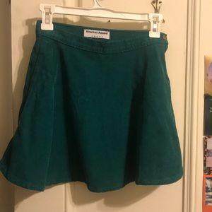 American Apparel Corduroy Skater Skirt